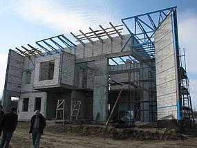 Частный дом в с. Волосское Днепропетровской обл. Фасады и кровля в фальцевом исполнении 1
