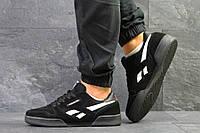 Мужские кроссовки Reebok Classic Black/White, черные. Код товара : KS 488