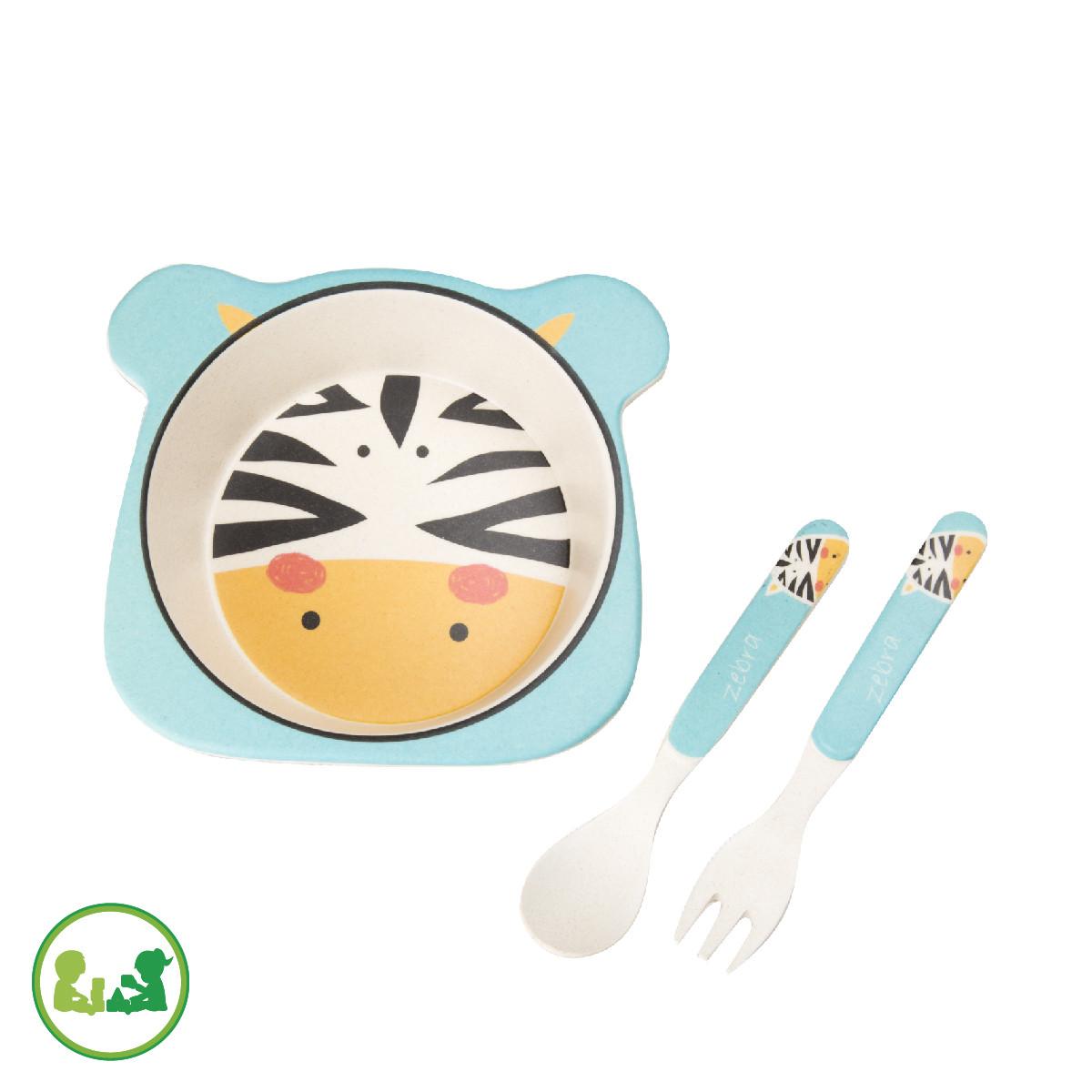 """Мини-набор бамбуковой посуды """"Зебра"""""""