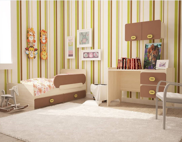 На фото: детская кровать с защитным бортиком