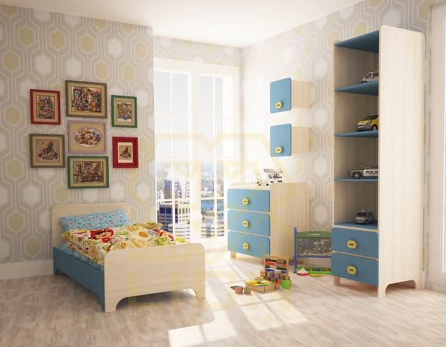"""На фото: мебель для детской комнаты """"Немо"""""""