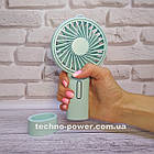 Мини-вентилятор портативный Handhald Fan F20 Blue. Ручной вентилятор с аккумулятором F20 Голубой, фото 2