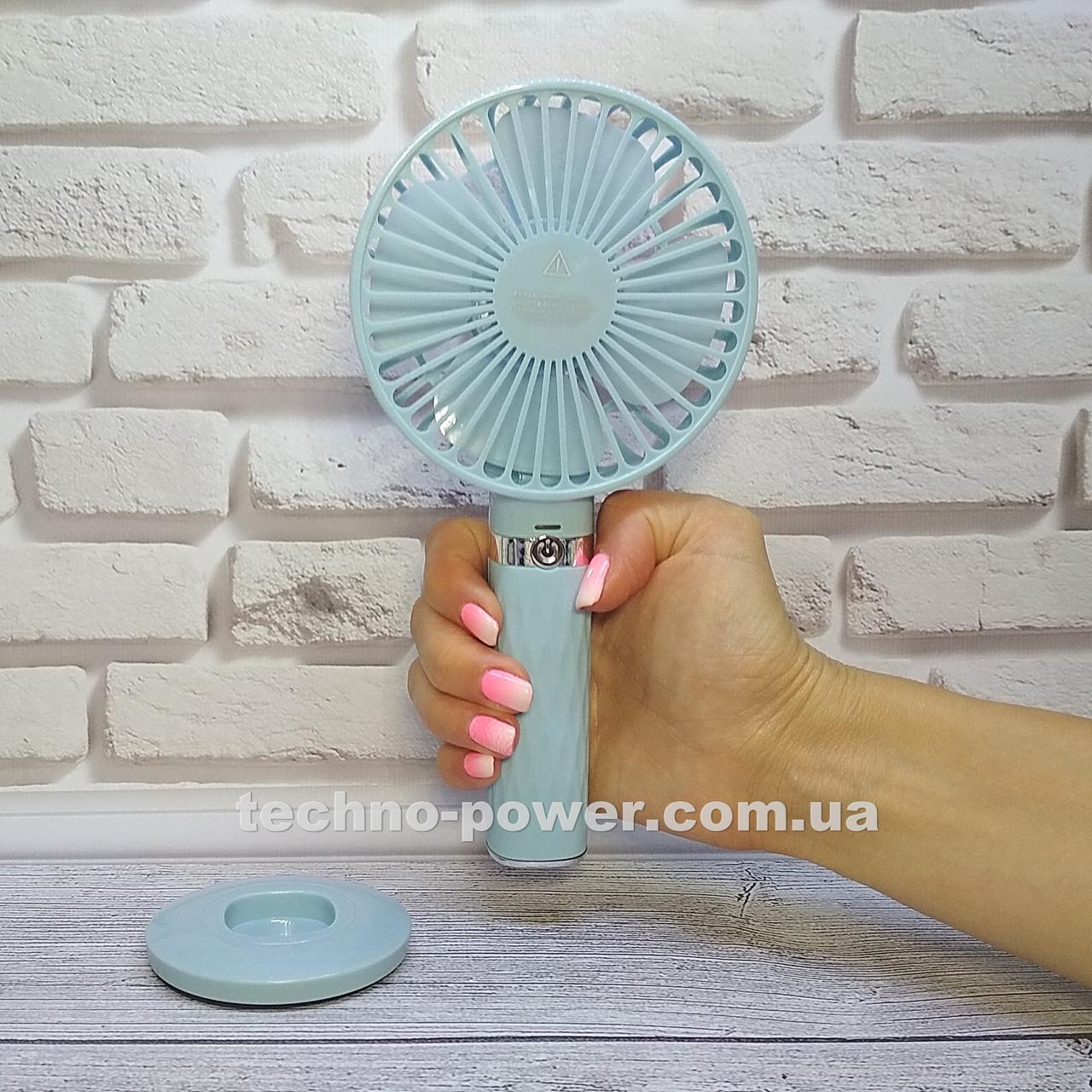 Портативный мини-вентилятор Handy Fan S8 Blue. Ручной вентилятор с аккумулятором S8 Фиолетовый