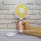 Портативный мини-вентилятор Handy Fan S8 White. Ручной вентилятор с аккумулятором S8 Белый, фото 3
