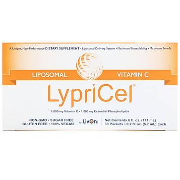 LypriCel, Липосомальный витамин С, 30 пакетиков по 0,2 жидких унций (5,4 мл) каждый