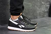 Мужские кроссовки Reebok Classic Black/White, черные. Код товара : KS 549