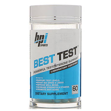 BPI Sports, Best Test, добавка тестостерона, 60 капсул