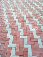 """Тротуарная плитка """"Кирпич"""" цветной, 80мм, 200х100мм"""