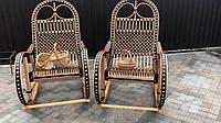 Плетеное кресло качалка из лозы и ротанга раскладное Трансформер-2
