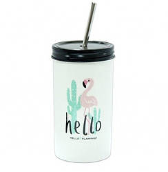Стакан с трубочкой Flamingo (123024)
