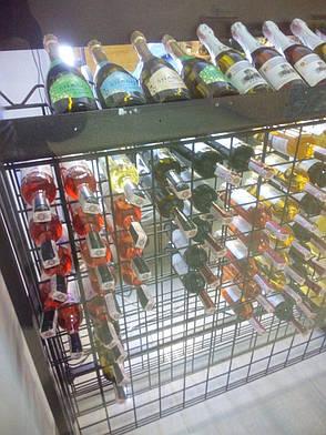 Стойка металлическая для вина, винный стеллаж с ячейками на 38 бутылок, фото 2