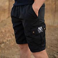 2 цвета, Новинка! Мужские карго шорты от бренда Rextim , черные , камо