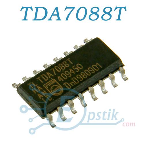 TDA7088T, приемник FM диапазона, SOP16