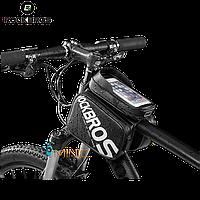 """Двухсторонняя вело сумка на раму ROCKBROS 009-6 для смартфонов до 6.2"""""""
