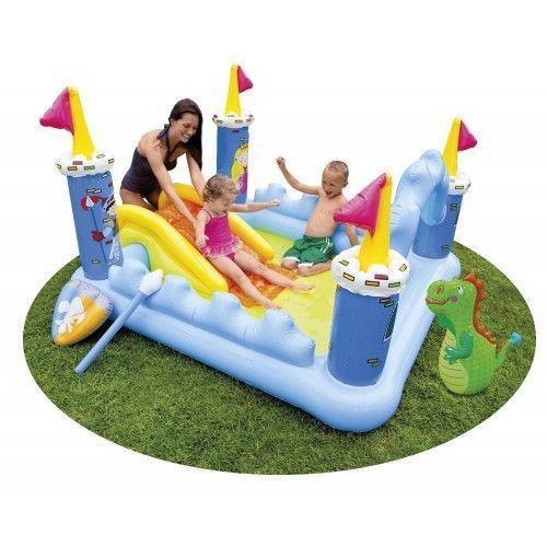 Дитячий надувний водний ігровий центр Intex 57138 Чарівний замок