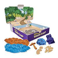 Набор с кинетическим песком  Dino голубой и коричневый, 340 г, Kinetic Sand & Kinetic Rock (71415Dn)