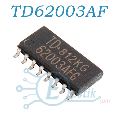 TD62003AF, 7-канальная сборка Дарлингтона, SOP16