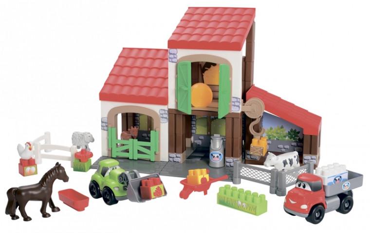 Ecoiffier Конструктор Ферма с животными (003044)