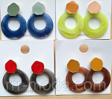 Крутые большие пластиковые серьги оптом! Брендовые разноцветные серьги Love!