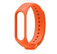 Ремешок  силиконовый для Xiaomi mi band 3,  mi band 4, много цветов оранжевый