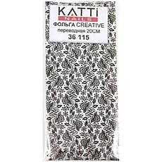 KATTi Фольга переводная 36 115 прозрачные с черным гипюром 20см, фото 2