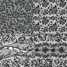 KATTi Фольга переводная 36 115 прозрачные с черным гипюром 20см, фото 3
