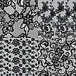 KATTi Фольга переводная 36 117 прозрачные с черным гипюром 20см, фото 4