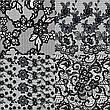 KATTi Фольга переводная 36 119 прозрачные с черным гипюром 20см, фото 4