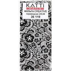 KATTi Фольга переводная 36 119 прозрачные с черным гипюром 20см, фото 2