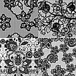 KATTi Фольга переводная 36 120 прозрачные с черным гипюром 20см, фото 6