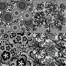 KATTi Фольга переводная 36 124 прозрачные с черным гипюром 20см, фото 2