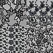KATTi Фольга переводная 36 124 прозрачные с черным гипюром 20см, фото 4