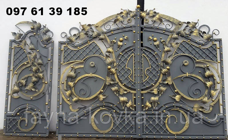 Ворота кованные 385
