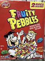 Двойная упаковка сухого завтрака Fruity Pebbles цветных хлопъев