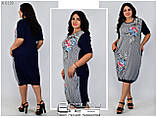 Летнее  женское платье вискоза Размеры: 58.60.62., фото 3