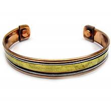 Медный женский браслет с магнитами
