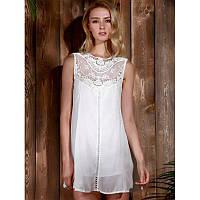 Женская легкая платье туника Белая M