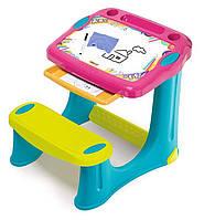 Детская парта с доской для рисования парта доска дошкольная Smoby розовая 420219