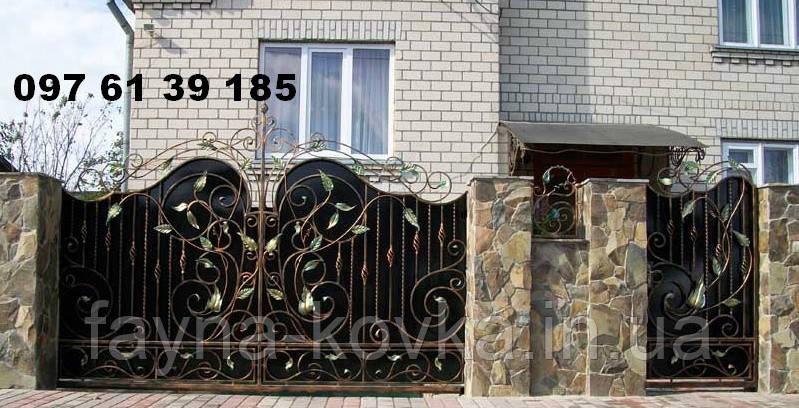 Ворота кованные 495