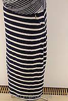 Моджая летняя юбка в полоску большого размера