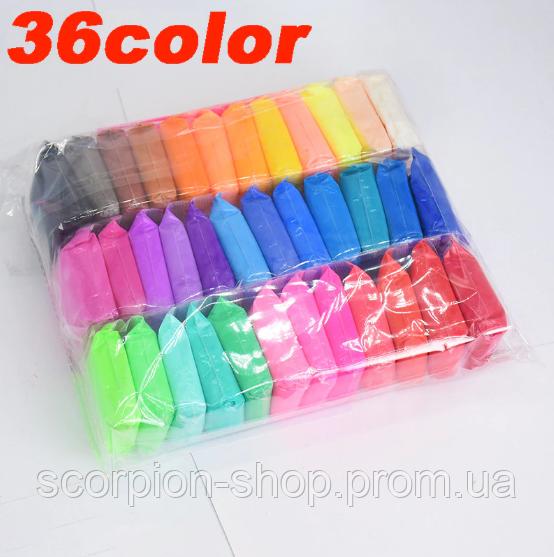 Масса для лепки, Пластилин, Цветная глина   (36 шт.)
