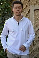 Вышиванка мужская «белым по белому» М01-111, фото 1