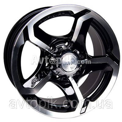 Литые диски Racing Wheels H-409 R15 W7 PCD5x139.7 ET0 DIA108.1 (BK-F/P)