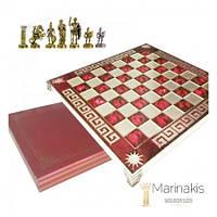 """Шахматы """"Римляне"""" (32 х 32 см) (красный). Marinakis 086-3514KR"""