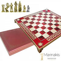 "Шахматы ""Мария Стюарт, Средневековая Англия"" (32х32 см) (красный). Marinakis 086-3511KR"