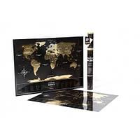 """Скретч карта мира """"Black World"""" Travel Map (на английском)"""