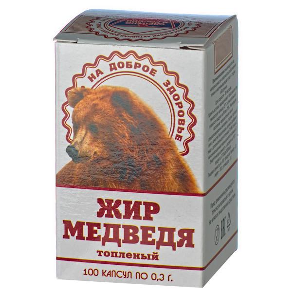 Жир Медведя, топленый 100 капсул по 0,3 г