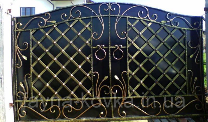Ворота кованые 498