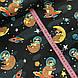 Хлопковая ткань польская, еноты в космосе на черном, фото 3