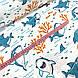 Ткань польская хлопковая, акулы с рыбками на белом, фото 2